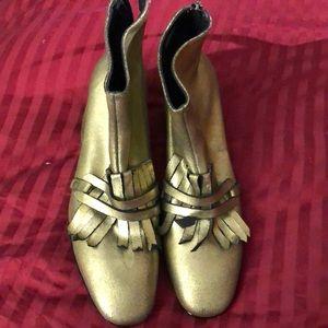 Metallic booties!